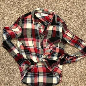 Pink Rose Red Plaid Flannel